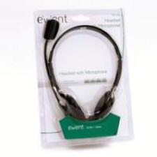 Ewent EW3563 hoofdtelefoon/headset Hoofdband 3,5mm-connector Zwart