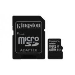 Kingston Technology Canvas Select flashgeheugen 16 GB MicroSDHC Klasse 10 UHS-I