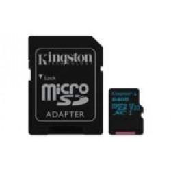 Kingston Technology Canvas Go! flashgeheugen 64 GB MicroSDXC Klasse 10 UHS-I