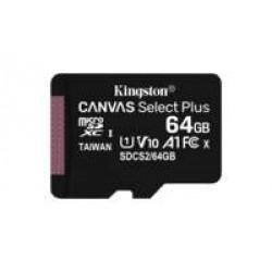 Kingston Technology Canvas Select Plus flashgeheugen 64 GB MicroSDXC Klasse 10 UHS-I