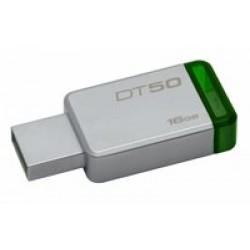 Kingston Technology DataTraveler 50 16GB USB flash drive USB Type-A 3.2 Gen 1 (3.1 Gen 1) Groen, Zilver