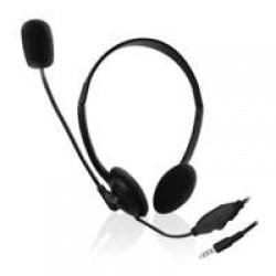 Ewent EW3567 Hoofdband Stereofonisch Bedraad Zwart mobiele hoofdtelefoon