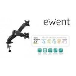 """Ewent EW1516 flat panel bureau steun 68,6 cm (27"""") Klem/doorvoer Zwart"""