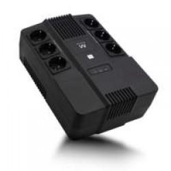 EwentUPS 600VA Line Interactive with AVR, 6 x CEE7/3 port