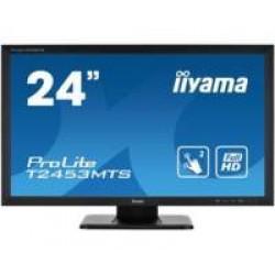"iiyama ProLite T2453MTS-B1 touch screen-monitor 59,9 cm (23.6"") 1920 x 1080 Pixels Zwart Dual-touch Tafelblad"