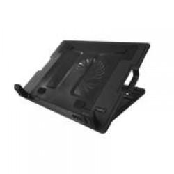 """Ewent EW1258 notebook cooling pad 43,2 cm (17"""") 1000 RPM Zwart"""
