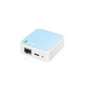 TP-LINK TL-WR802N draadloze router Single-band (2.4 GHz) Fast Ethernet Blauw, Wit