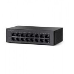 Cisco Small Business SF110D-16HP Unmanaged L2 Fast Ethernet (10/100) Zwart Power over Ethernet (PoE)