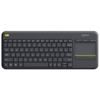 Logitech K400 Plus toetsenbord RF Draadloos QWERTY Nederlands Zwart/ US