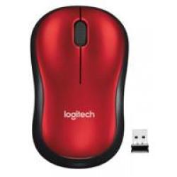 Logitech M185R zwart-rood