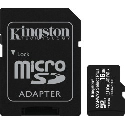 Kingston microSDHC Canvas Select Plus 16 GB 100 MB/s + SD adapter