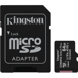 Kingston microSDHC Canvas Select Plus 64 GB 100 MB/s + SD adapter