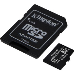 Kingston microSDHC Canvas Select Plus 32GB 100 MB/s + SD adapter